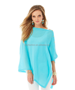 women's cashmere poncho with buttons