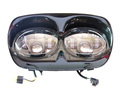 Best price motorcycle double headlight for harley CVO Road Glide 45w black headlight