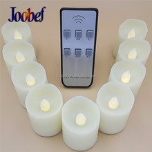 Battery Operated LED Amber Flameless Flickering Flashing Tea Light Candle with Timer and Remote Control(Pack of 6)