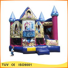 2016 Newest design princess indoor inflatable bounce castle for sale