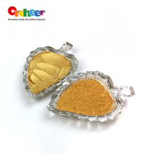 Gold pearlescent pigment, mica powder for art paints and coating