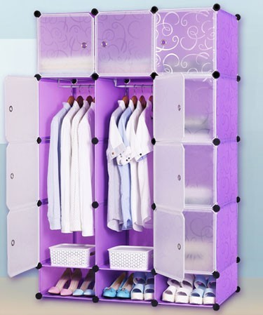 dustproof non-woven portable iron clothes wardrobe with cover
