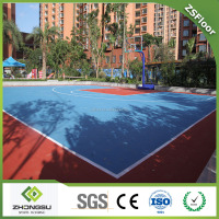 mobile basketball court interlocking flooring
