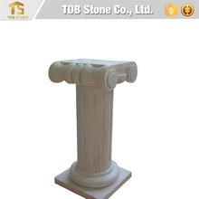 Small size white marble column for interior use