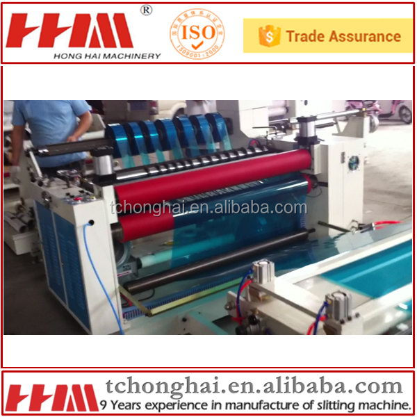 Laser film slitting and perforating machine