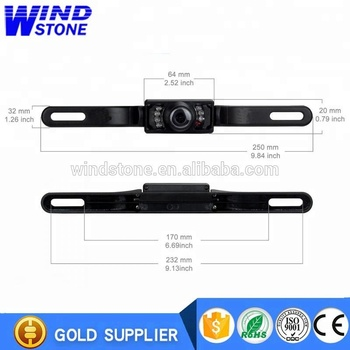 Hot selling in USA Car License Plate Rearview Camera