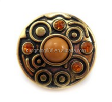 18mm Round Shape With CZ stone Ginger Snap Button Wholesale