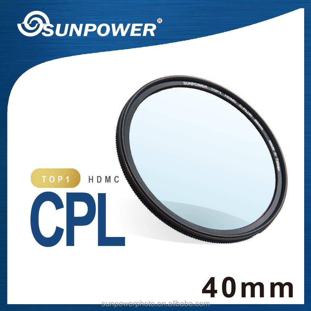 SUNPOWER TOP1 MIT professional HDMC CPL 40mm camera Lens Filter for Canon Nikon