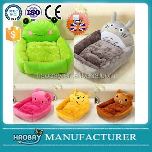 Soft Cartoon Comfy Fabric Dog Puppy Cat Teddy Pet cute Bed House