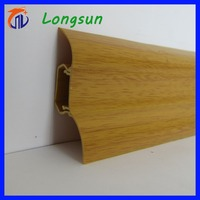 Not stainless steel skirting board, but plastic pvc skirting board
