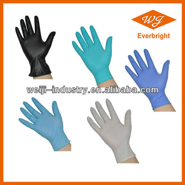 CE,FDA,ISO approved AQL1.5,2.5,4.0 disposable nitrile gloves for cleanroom,industrial,electronic,examination service