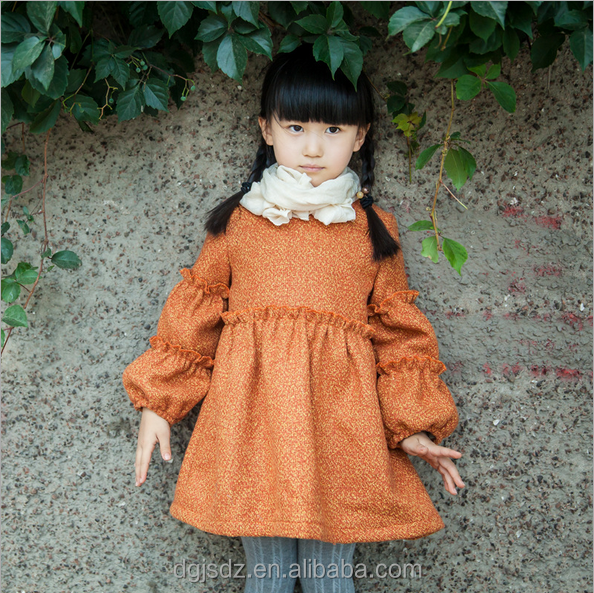 pure color mosaic dress kids girls frozen chic dreses woolen dresses for fashion girls