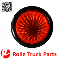 "4"" PVC Rubber Round Led Strobe Lamp Truck Rear Tail Light Trailer Lamp LED Light"