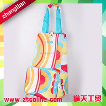 Fashion PVC polyester recycle folding storage bag with wheels