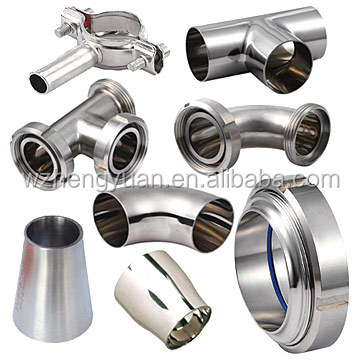 Sanitary stainless steel union DIN/SMS/3A pipe fitting
