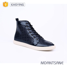 Hot sale lace up men winter casual shoes high tops custom