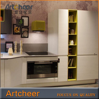 Latest design apartment pu paint kitchen cabinet with cheap contertops