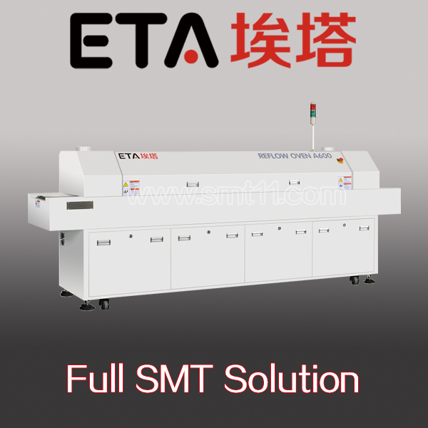 China supplier Factory price Economical Hot air LED wave SMT Reflow Oven 6 zones / 8 zones for LED mount soldering