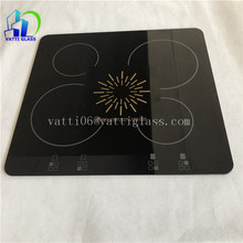 high temperature ceramic glass for hot plate glass top black crystal glass for induction cooker