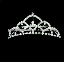 New designs rhinestone small princess diamond hair piece crown
