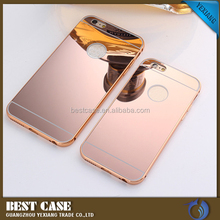Factory supply aluminum bumper case for htc m8 metal cover with mirror