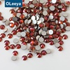 Factory wholesale SS20 flat back strass burgundy crystal non hot fix rhinestone for bra decoration