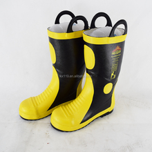 Rubber material fire performance rubber boots fireproof fire safety boots customized
