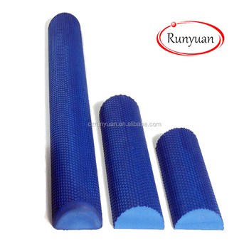 RUNYUAN Soft Density Deluxe Half Foam Roller, Blue,OEM,China Manufacturer