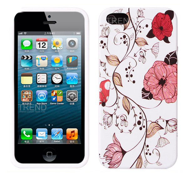 new IMD colorful mobile phone silicon case for iPhone5/5s