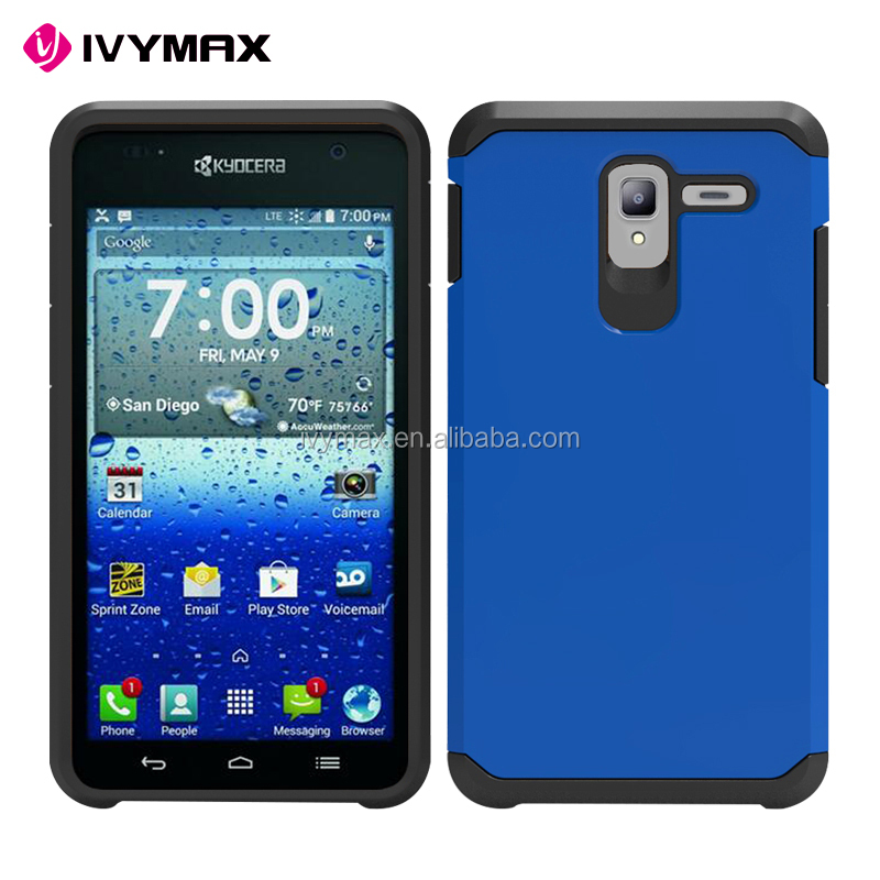 Cheap wholesale phones accessories 2 in 1 slim armor tough phone case for KYOCERA C6742