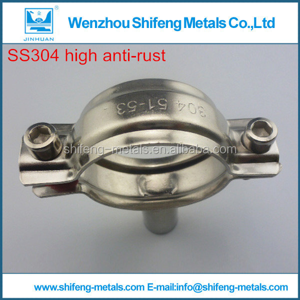 china stainless steel sanitary round pipes hanger