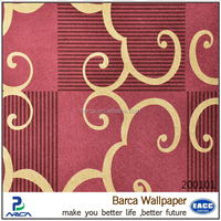 Barca brand New style customization decorative metallic wallpaper for wall