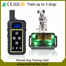 High Quality Waterproof Defense Bark Dog Collar Electric Dog Training Shock Collar with Remote 2000m