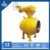 Cast Steel 3 Pieces Electric Ball Valve gas field pipeline