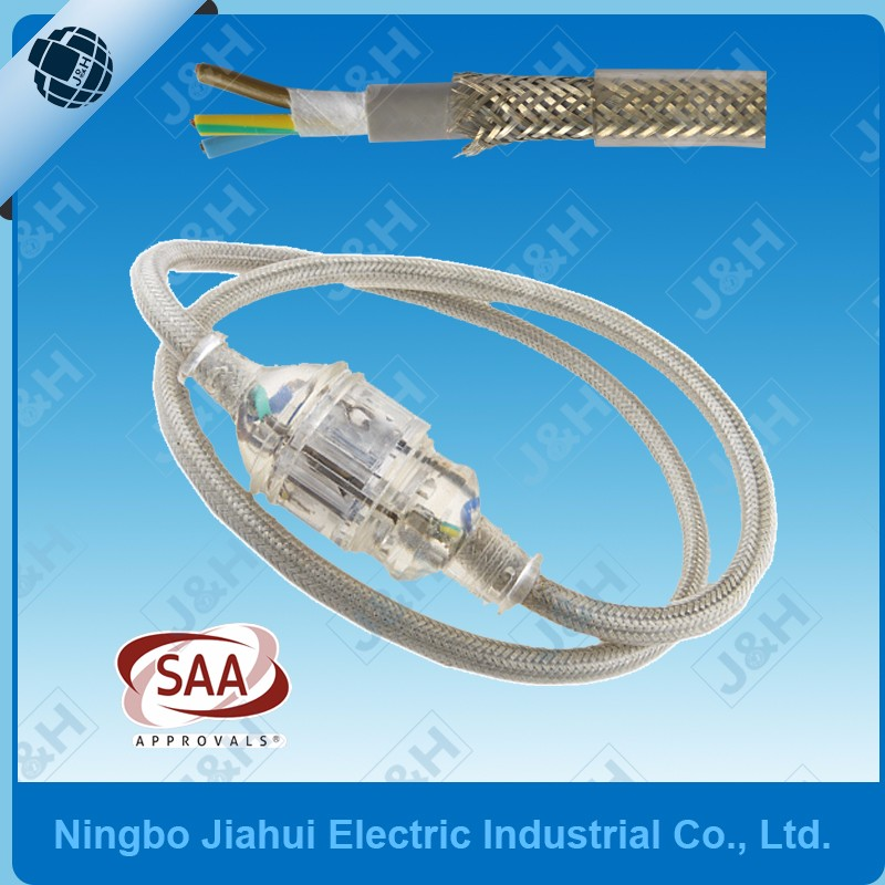 Australia SAA Lead AS/NZS Molded Plug and Socket Pure Copper Cable