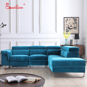 Modern design electric furniture house L shape sofa,living room fabric or leather sofa set designs