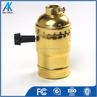 brass aluminum e27 lamp holder e26 saa model with switch