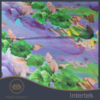 New design water color oil painting soft polyester fabric for shirt