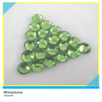 SS6 2mm Dmc Hot Fix Stone Clear Chrysolite Flat Back Round Rhinestone