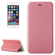 Oracle Texture Horizontal Flip Leather Case with Holder for iPhone 6 Plus(Pink)