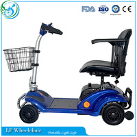 Portable four wheel mobility old man electric scooter