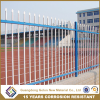 China Wholesale High Quality Security Cheap Garden Fence, Strong spear top wrought iron fence