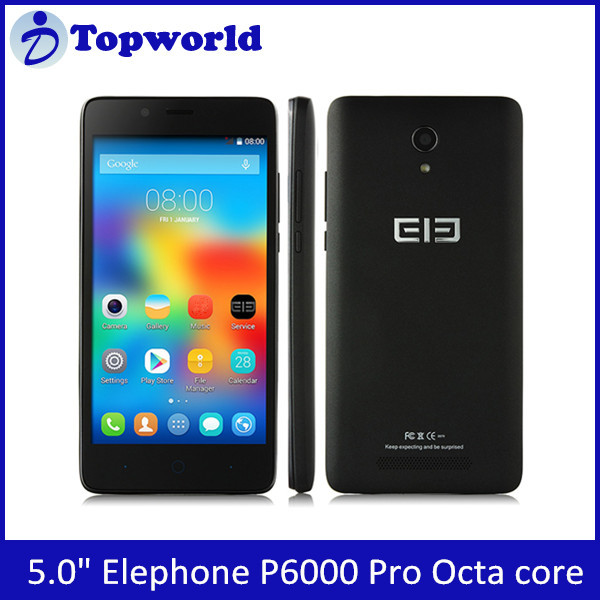 "5.0"" Elephone P6000 Pro 4G lte FDD Mobile phone MTK6753 64 bit Octa Core 3GB/16GB 2+13.0MP android 5.1"