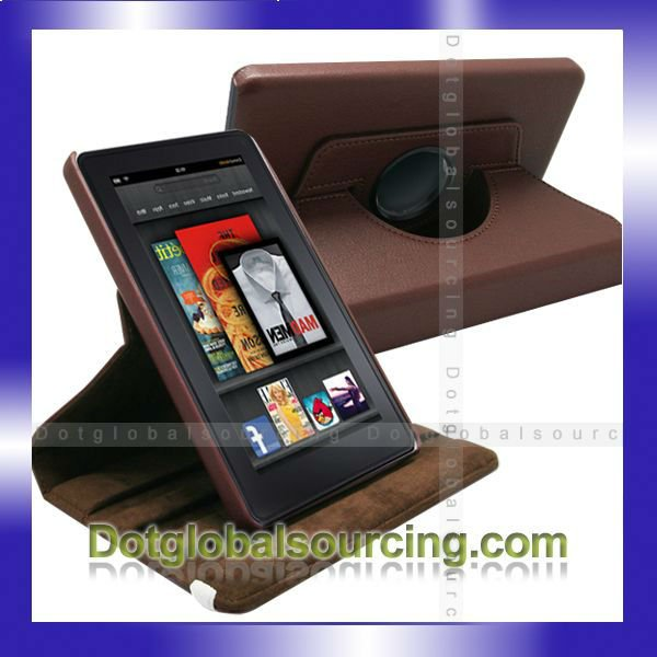 New 360 Degree Rotating Leather Stand Case Cover For Amazon Kindle Fire