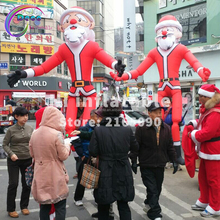 Christmas decoration inflatable walking santa claus costume