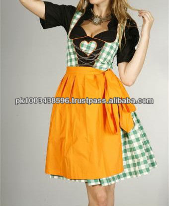 High quality cotton check bavarian dirndls, gernan dirndl dresses for girls, dirndl costume for 2013 oktoberfest