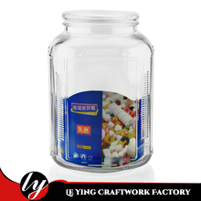 3300ML Storage Food Canister with Glass Lid Candy Honey Glass Jar