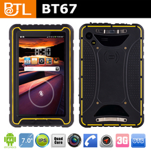 2015 Golden supplier BT67 Rugged tablet IP67, Waterproof tablet with Corning Gorilla Glass 3/large memory/MTK 6582/android 4.4