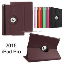 360 Degree Rotating Stand Case With Auto Sleep and Wake Up Leather Case For Ipad Pro Case