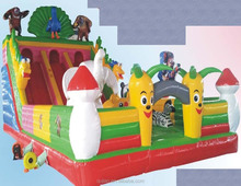 china high quality cheap price kids commercial inflatable bouncy castle with water slider par in Guangzhou with prices for sale
